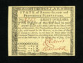 Colonial Notes:Rhode Island, Rhode Island July 2, 1780 $8 Gem New. An exceptional gem example ofthis later Rhode Island issue that has bold signatures a...