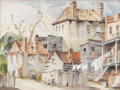 Fine Art - Painting, American:Modern  (1900 1949)  , ALFRED HEBER HUTTY (American 1877-1954). Charleston, circa1920. Watercolor on Whatman paper on board. 17-1/2 x 23-3/8 i...