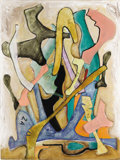 Fine Art - Painting, American:Contemporary   (1950 to present)  , BILL BARRETT (American b.1934). Template, Study For A Sculpture, 2001. Oil on canvas. 48 x 36 inches (121.9 x 91.4 cm). ...