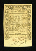Colonial Notes:Rhode Island, Rhode Island May 1786 20s Gem New. An incredibly well margined andvery well embossed example of this final Rhode Island iss...