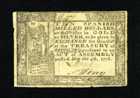 Virginia May 4, 1778 (Dates Printed) $10 Extremely Fine. The technical grade and eye appeal of this note is that of a we...