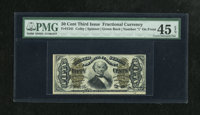 Fr. 1341 50c Third Issue Spinner Type II PMG Extremely Fine 45 EPQ. A perfectly natural example with deep original embos...