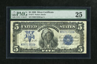 Fr. 277 $5 1899 Silver Certificate PMG Very Fine 25. This is a bright Chief for the grade with nice color. The margins a...