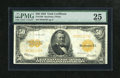 Large Size:Gold Certificates, Fr. 1200 $50 1922 Gold Certificate PMG Very Fine 25. Thisattractive $50 is bright with excellent color for the grade.Also,...
