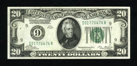 Fr. 2050-I $20 1928 Federal Reserve Note. Gem Crisp Uncirculated. Bold embossing and excellent margins are found on this...