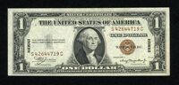 Fr. 2300 $1 1935A Hawaii Silver Certificate. Very Choice Crisp Uncirculated. A slightly wider bottom margin would put th...
