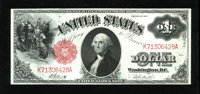 Fr. 37 $1 1917 Legal Tender Gem New. This legal ace has excellent margins for the type and sharp corners. Crackerjack em...