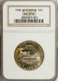 1936 50C Wisconsin MS67 ★ NGC. This strongly lustrous and immensely appealing Superb Gem displays powerful luster beneat...
