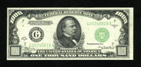 Fr. 2212-G $1000 1934A Federal Reserve Note. About Uncirculated. A center fold is found on this Chicago example