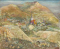 Western:20th Century, WILLIAM ALEXANDER GAW (American 1891-1973). Untitled. Oil and mixed media on canvas. 35-1/2 x 43 inches (90.2 x 109.2 cm...