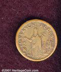 Undated (ca. 1670-1675) St. Patrick farthing 1CL VF 20. 5.86 grams. A smooth, medium tan example with an intact brass sp...