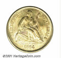 1864-S H10C Half Dime MS 67 ICG. This low mintage (90,000 pieces) issue was produced in an era when silver coinage was i...
