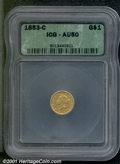 Additional Certified Coins: , 1853-C G$1