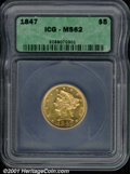 Additional Certified Coins: , 1847 $5
