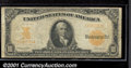 Large Size Gold Certificates:Large Size, 1907 $10 Gold Certificate, Fr-1172, VG. You may bid on this lot...