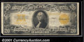 Large Size Gold Certificates:Large Size, 1922 $20 Gold Certificate, Fr-1187, Fine. Although this note te...