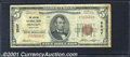 National Bank Notes:Maryland, Denton National Bank, MD, Charter #2547. 1929 $5 Type One, Fr-1...