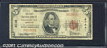 National Bank Notes:Maryland, First National Bank of Frostburg, MD, Charter #4149. 1929 $5 Ty...