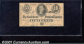 Confederate Notes:1864 Issues, 1864 50 Cents Bust of Jefferson Davis, T-72, AU. You may bid on...