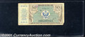 Miscellaneous:Other, Military Payment Certificate 50 cents, Series 472, Fine. You ma...