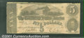Confederate Notes:1862 Issues, 1862 $5 State Capitol at Richmond, VA in center; C.G. Memminger...