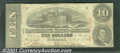 Confederate Notes:1863 Issues, 1863 $10 State Capitol at Columbia, SC; R.M.T. Hunter, T-59, CC...