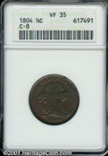 1804 1/2C Spiked Chin VF 35 ANACS