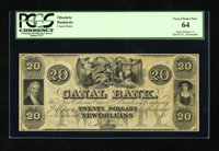 New Orleans, LA- Canal Bank $20 18__ This remainder is bright and well margined. There is some toning of the paper to no...
