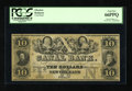 Obsoletes By State:Louisiana, New Orleans, LA- Canal Bank $10 18__. This remainder is bright and very well margined for the issue. PCGS Gem New 66PPQ....