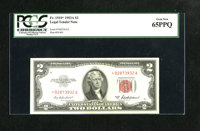 Fr. 1510* $2 1953A Legal Tender Note. PCGS Gem New 65PPQ. Original paper waves are noted through the holder