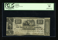 Appalachicola, FL- Bank of West Florida $10 Nov. 18, 1832 This attractive issue still boasts full deep signatures as wel...