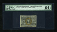 Fr. 1286 25c Second Issue PMG Choice Uncirculated 64 EPQ. A very well margined example of this scarce variety that appea...