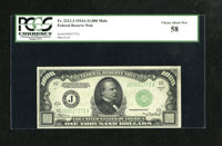 Fr. 2212-J $1000 1934A Federal Reserve Note. PCGS Choice About New 58. It is likely a bit of handling precludes a New gr...