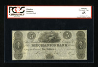 New Haven, CT- Mechanics Bank $5 18__ This attractive remainder was unfortunately red holdered for a couple of minor mou...