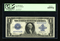 Fr. 238 $1 1923 Silver Certificate PCGS Gem New 65PPQ. This is one of the more popular designs