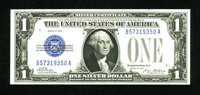 Fr. 1600 $1 1928 Silver Certificate. Crisp Uncirculated. This first year issue Funnyback is well margined and colorful t...