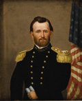 Military & Patriotic:Civil War, An Oil Painting of General Ulysses S. Grant by Edward Dalton Marchant - (1806-1887) This oil portrait of General Ulysses S. ...