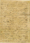 "Autographs:Military Figures, John Singleton Mosby Writes Home to His Mother During the OpeningDays of the War Early war-dated ALS ""Jno S. Mosby"", 4 ..."
