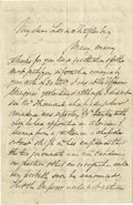 "Autographs:Military Figures, C.S.A. Diplomat John Slidell War Date Autograph Letter Signed. Four pages, 5.25"" x 8"" plain paper, Paris, October 3, 1862, t..."