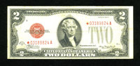 Fr. 1505* $2 1928D Legal Tender Star Note. Fine-Very Fine. Even wear is distributed over this Star $2