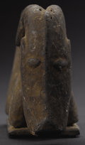 African: , Igbo (Nigeria), Ahoada Region. Goat Figure from an OwoHeaddress. Wood, fiber. Height: 4 7/8 inches Length: 8 inches W...