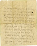 "Autographs:Military Figures, General George Pickett, Extremely Rare Civil War-dated Autograph Letter Signed to His Pregnant Wife, LaSalle ""Sallie"" Corbett..."