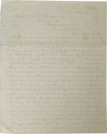 "Autographs:Military Figures, Exceptional Civil War-dated Letter Signed to Maj. General John Cabell Breckenridge, 2 pages, 8.25"" x 10.25"", ""Hd Qrs Army ..."
