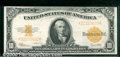 Large Size Gold Certificates:Large Size, 1922 $10 Gold Certificate, Fr-1173, VF. This note appears to be...