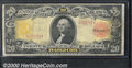 Large Size Gold Certificates:Large Size, 1905 $20 Gold Certificate, Fr-1180, Fine. This note retains muc...