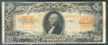 Large Size Gold Certificates:Large Size, 1922 $20 Gold Certificate, Fr-1187, VG-Fine. A well worn exampl...