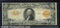 Large Size Gold Certificates:Large Size, 1922 $20 Gold Certificate, Fr-1187, VG-Fine. A moderately soile...