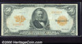 Large Size Gold Certificates:Large Size, 1913 $20 Gold Certificate, Fr-1199, Fine. This note is flat and...