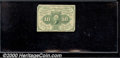 Fractional Currency: , 1862-1863 10c First Issue, Washington, Fr-1242, VG. You may bid...