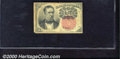 Fractional Currency: , 1874-1876, 10c Fifth Issue, Meredith, Fr-1265, VG. Soiled, with...